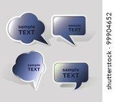 speech bubble set | Shutterstock .eps vector #99904652