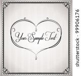 Vector Invitation Card With...