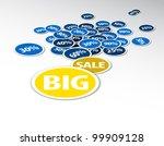 vector discount sale background ... | Shutterstock .eps vector #99909128