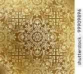 seamless golden damask wallpaper | Shutterstock .eps vector #99909896