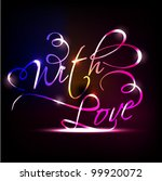 with love text having glossy... | Shutterstock .eps vector #99920072