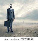 Pollution Concept  Portrait Of...