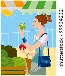 fruit market | Shutterstock .eps vector #99934232
