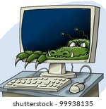 a computer virus has hidden ... | Shutterstock . vector #99938135