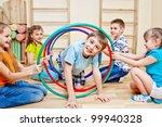 children playing in school gym   Shutterstock . vector #99940328