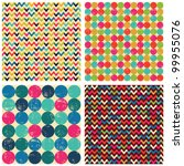 seamless patterns set  balls ... | Shutterstock .eps vector #99955076