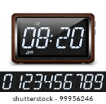 retro stylized digital alarm... | Shutterstock .eps vector #99956246