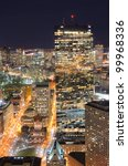 Aerial view of downtown Boston, Massachusettes, USA. - stock photo