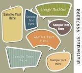 multicolor vector speech... | Shutterstock .eps vector #99978398