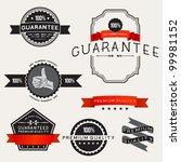 vector retro label designs  ... | Shutterstock .eps vector #99981152