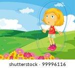 illustration of kids in the park | Shutterstock .eps vector #99996116