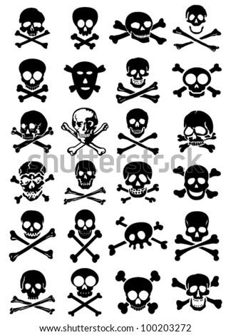 skulls   crossbones vector