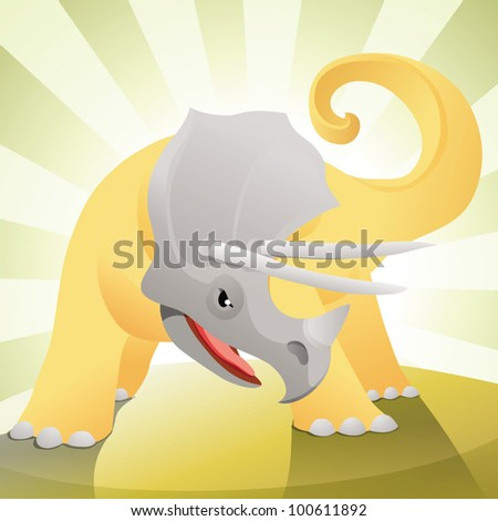 angry triceratops ready to