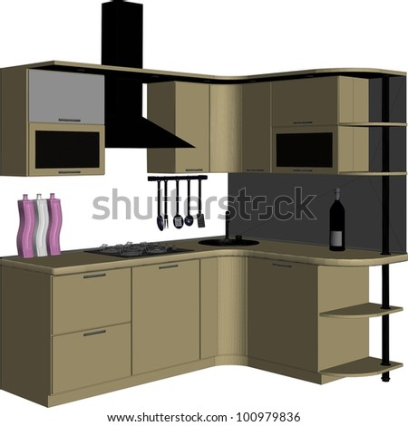 kitchen vector 09