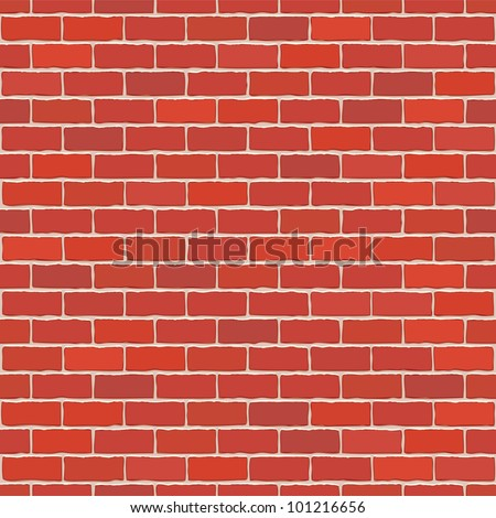 seamless vector red brick wall