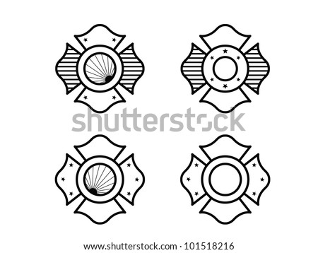 four fire fighter maltese cross