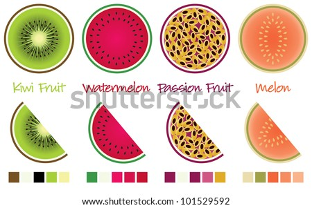 fruit slices and wedges in