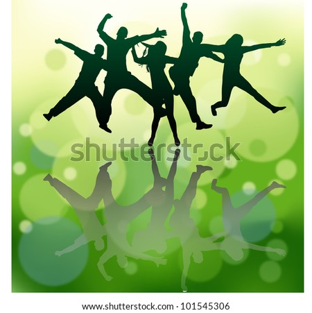 people vector background