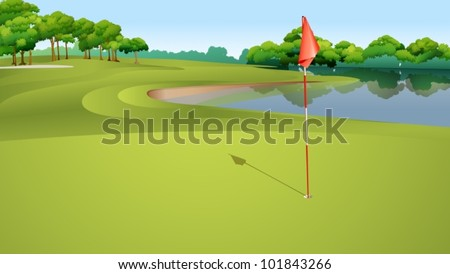 illustration of golf hole from