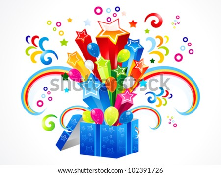 abstract colorful magic box