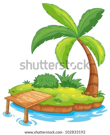 illustration of a tiny island