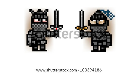 two pixel knights