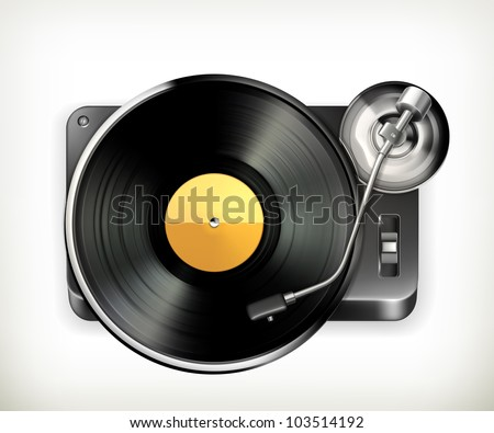 phonograph turntable  vector