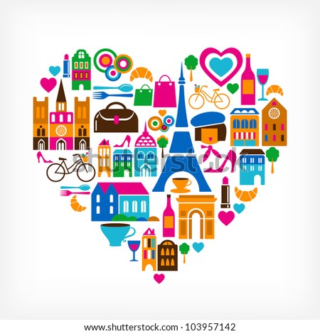 paris love   vector
