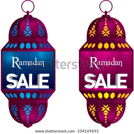 ramadan sale danglers vector
