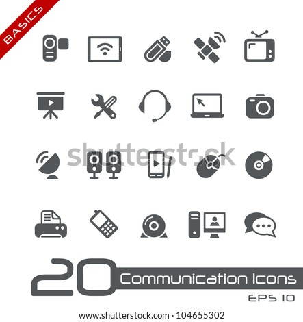 communication icons    basics
