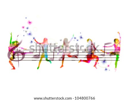 abstract musical vector