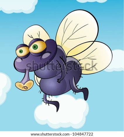 illustration of a dirty fly