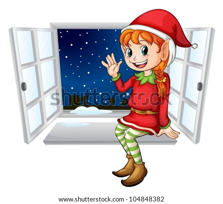 illustration of an elf in a