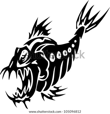 water monster   vector