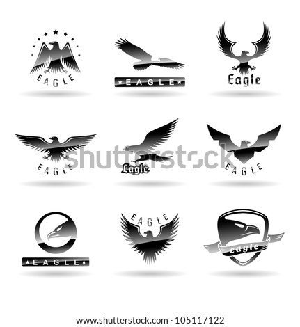 eagle silhouettes set 2
