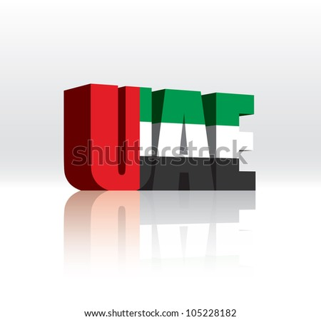 3d vector united arab emirates
