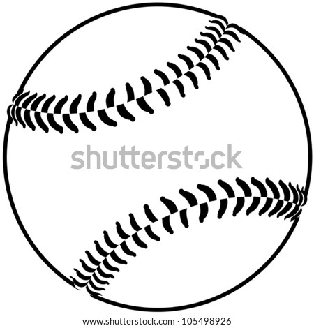 image of a baseball isolated in