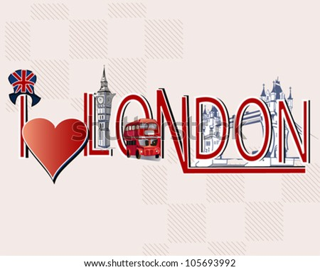 london lettering decorated with