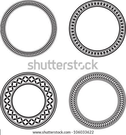 set of four black circle design
