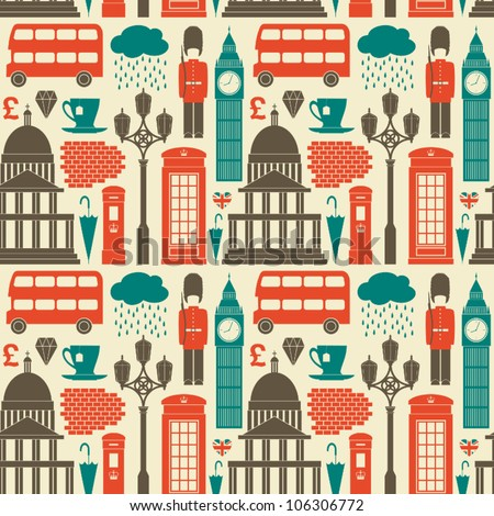 seamless pattern with london