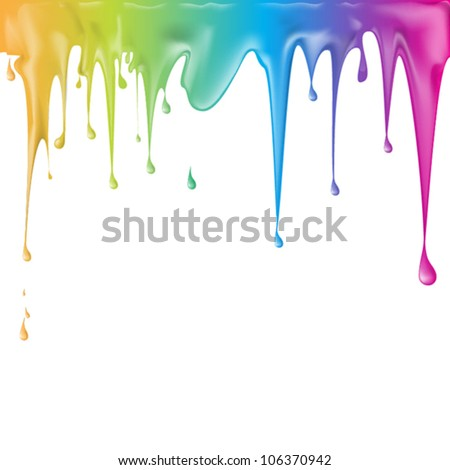 paint color dripping  eps10