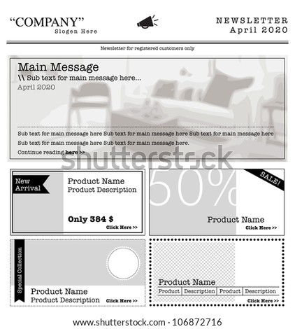 newsletter template internet