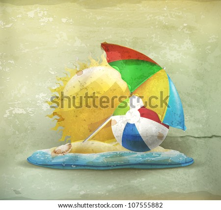 summer  old style vector