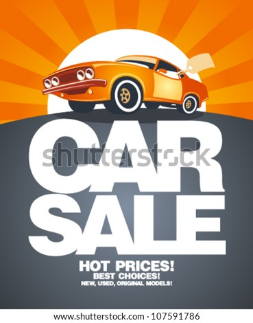 car sale design template with