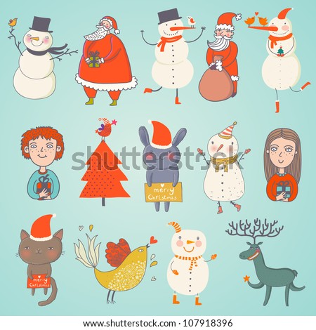 cute set of vector christmas