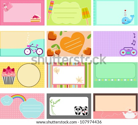 A Cute Collection Of Blank Labels. Pastel Tags Royalty Free ...