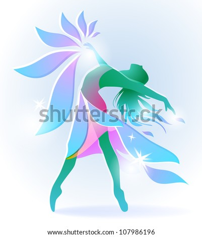 abstract dancing girl with a