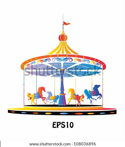 Vector Images, Illustrations and Cliparts: Merry-Go-Round ...