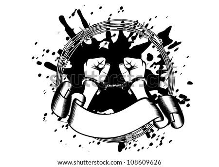vector illustration hands in
