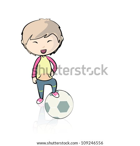 child playing with a soccer